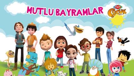 TRT Çocuk Dergisi - Mutlu Bayramlar Afişi