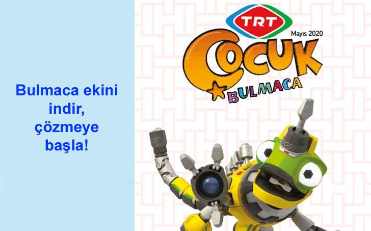 TRT Çocuk Dergisi Bulmaca Eki - Mayıs 2020